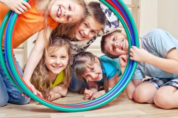 cinco niños