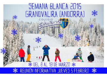 Semana Blanca, esquí, Colegio Estudiantes Las Tablas,