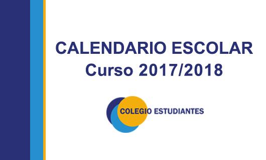Calendario Escolar 2017/2018 Colegio Estudiantes