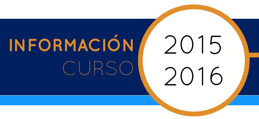 Información Curso 2015-2016