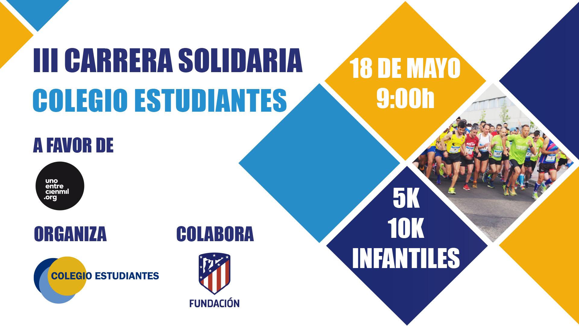 Entrenamientos programados para la III Carrera Solidaria Colegio Estudiantes